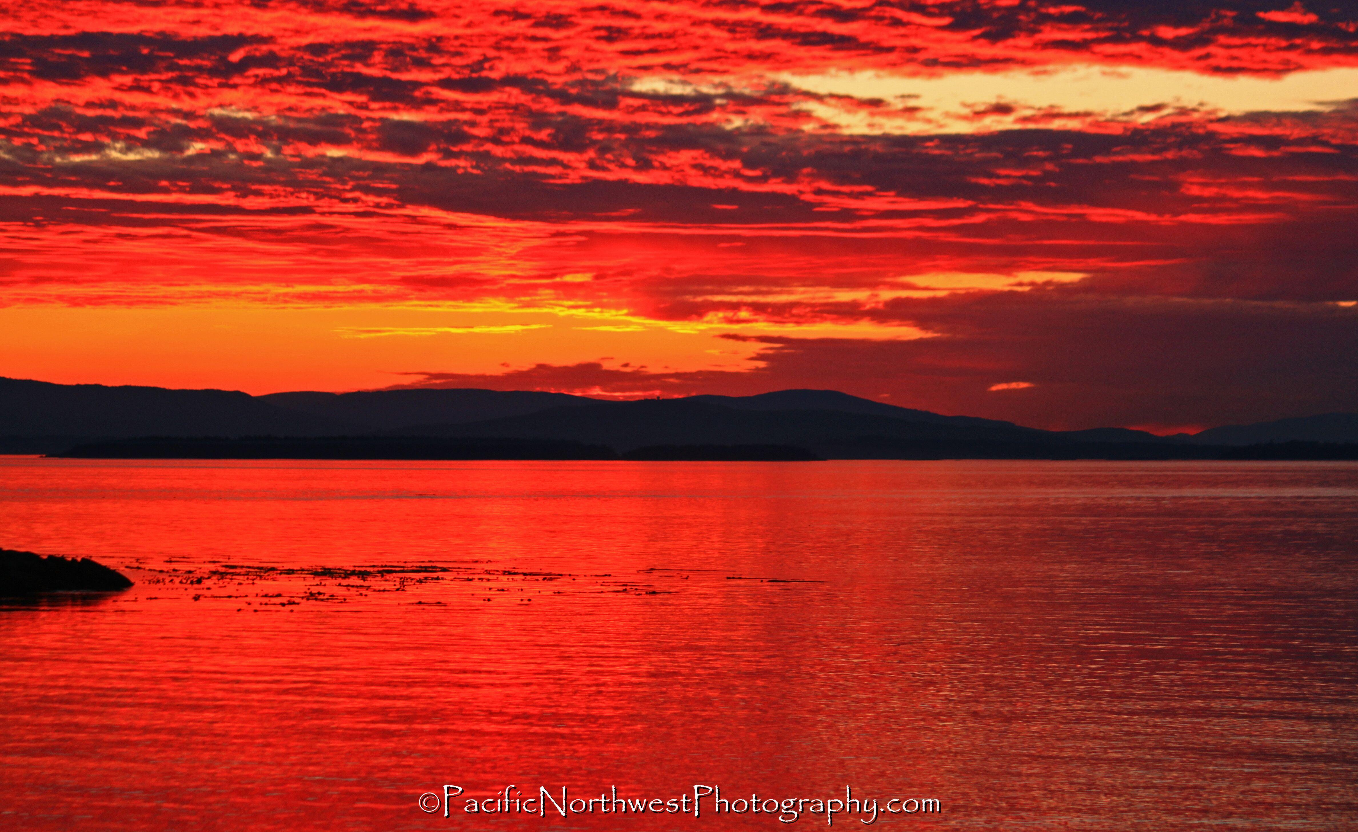 Sunset at San Juan County Park, WA
