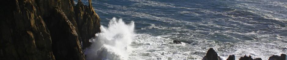 Waves crashing against the Oregon Coast