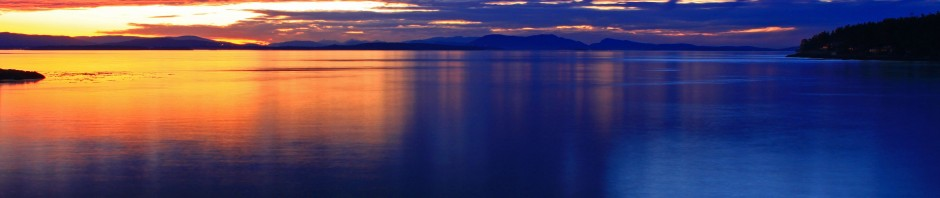 Sunset on the San Juan Islands