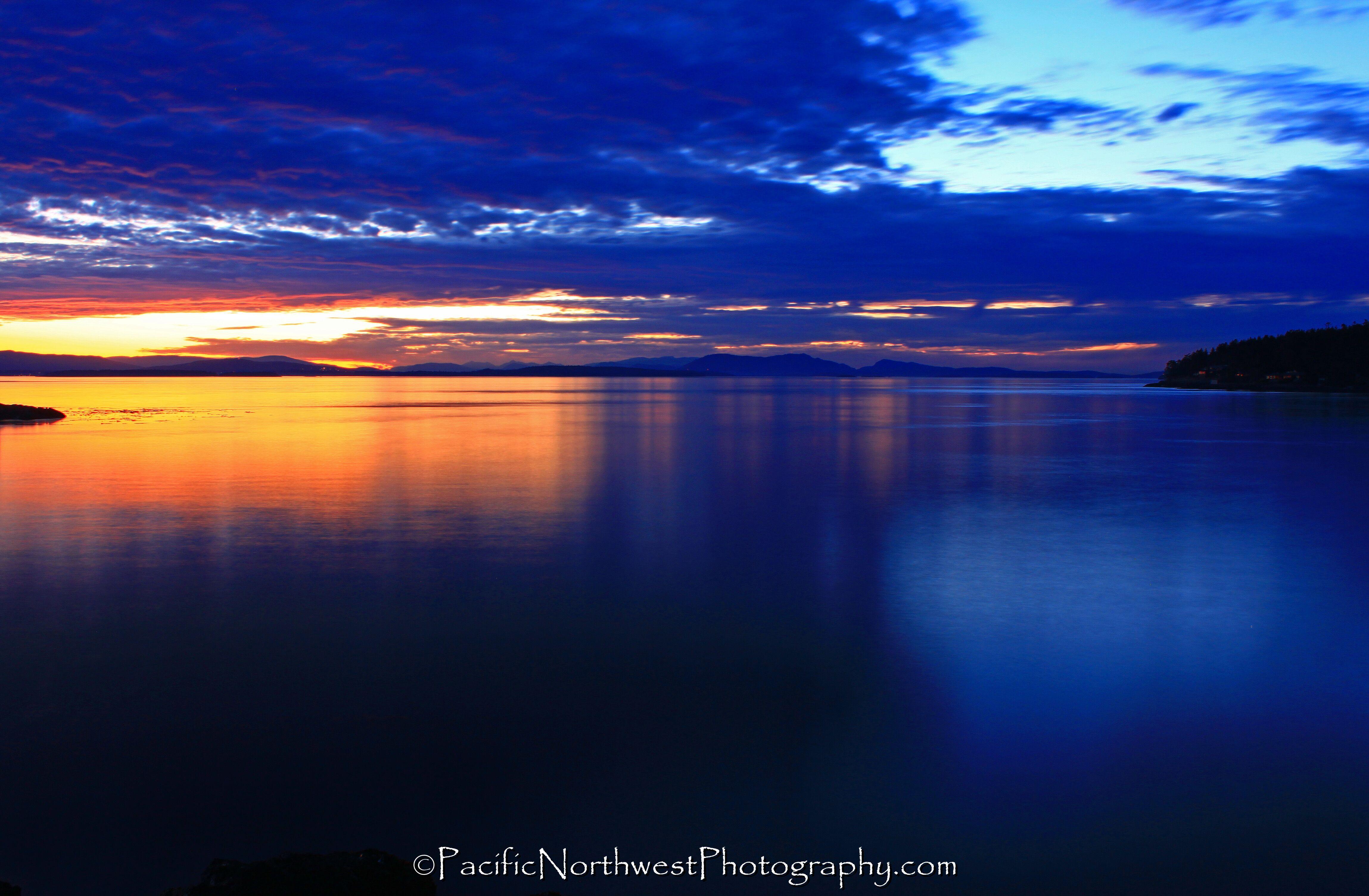 Sunset on the San Juan Islands