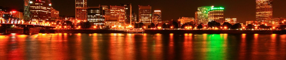 Portland, OR at night