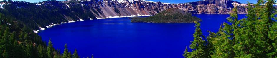 A very blue lake