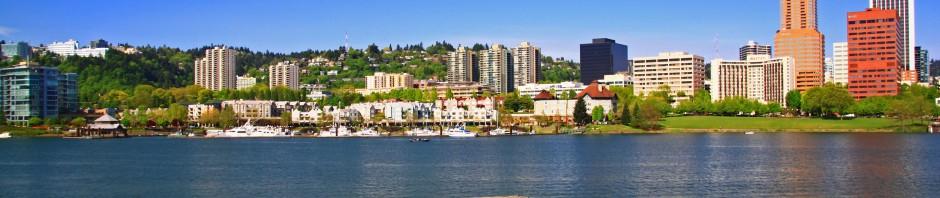 Beautiful sunny day in Portland