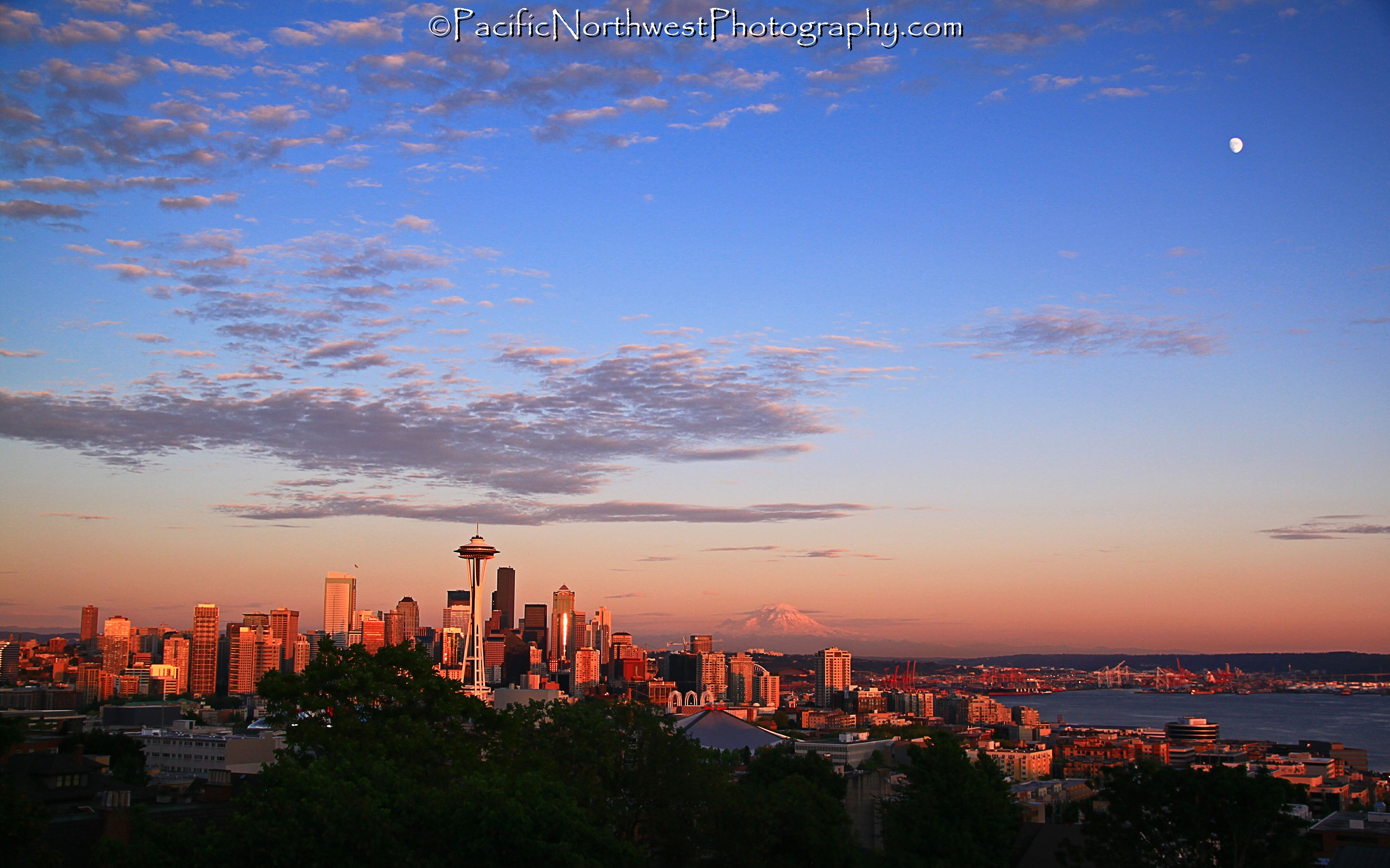 Seattle just before sunset