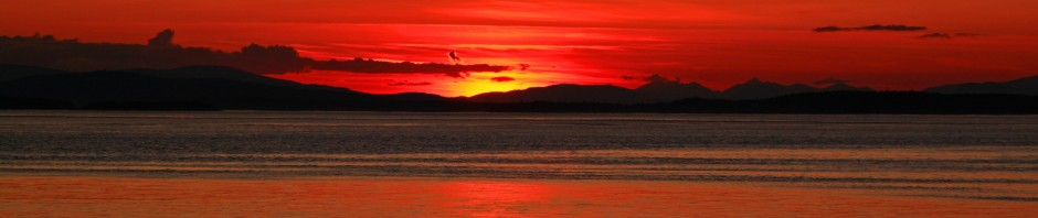 Sunset over Vancouver Island, Canada