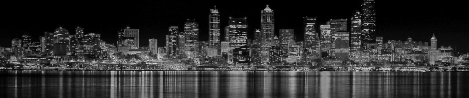 Seattle lights in total darkness