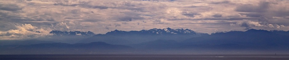 Haro Strait and the Olympic mountains