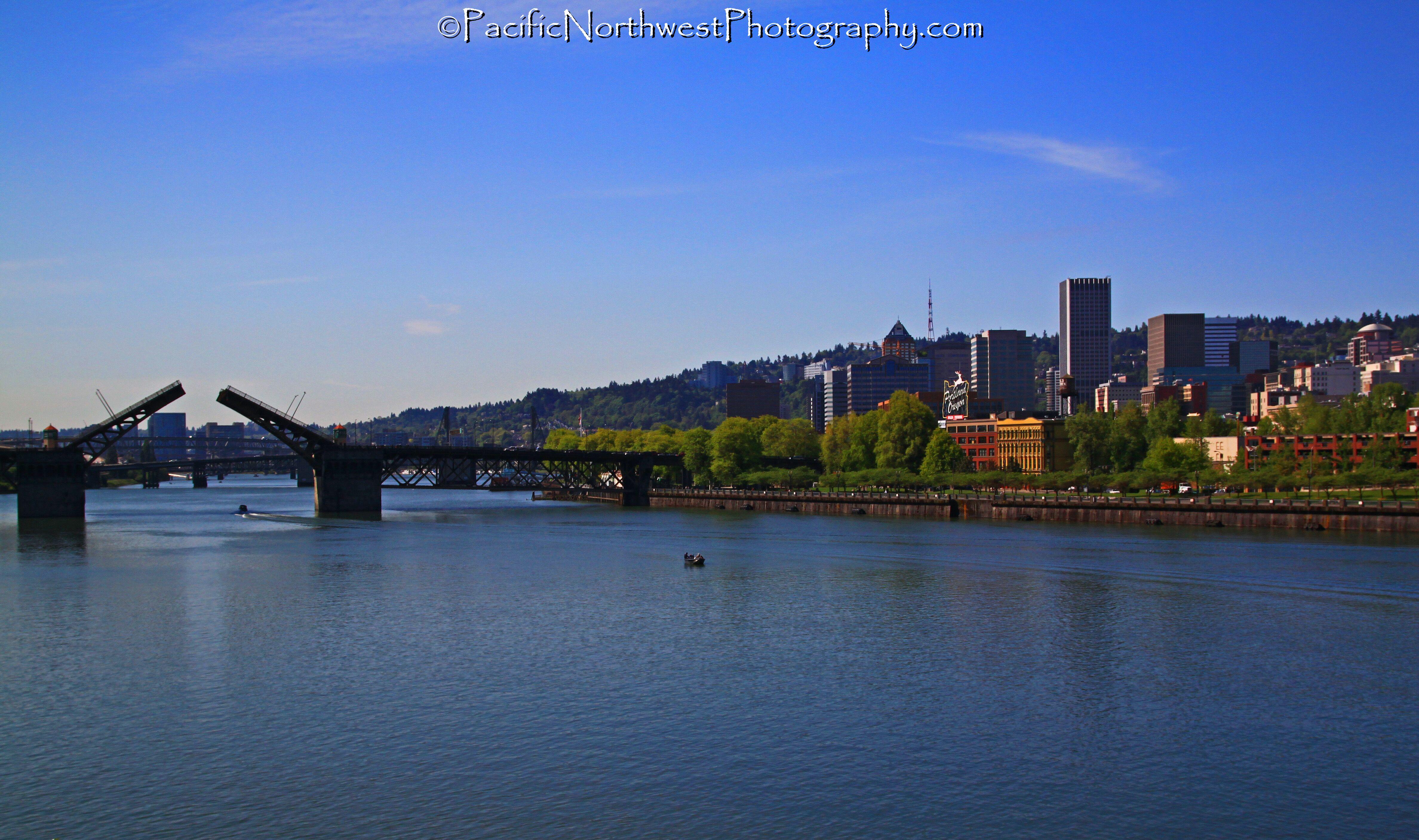 Bridge, river and city