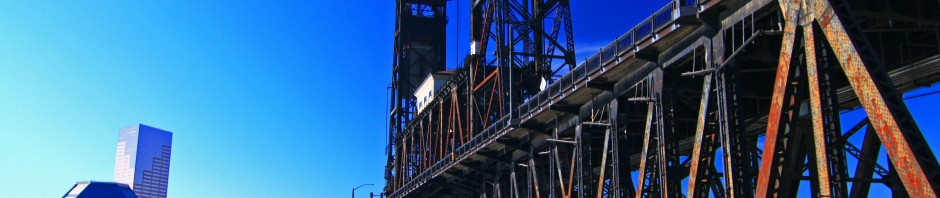 Steel Bridge in Portland, OR
