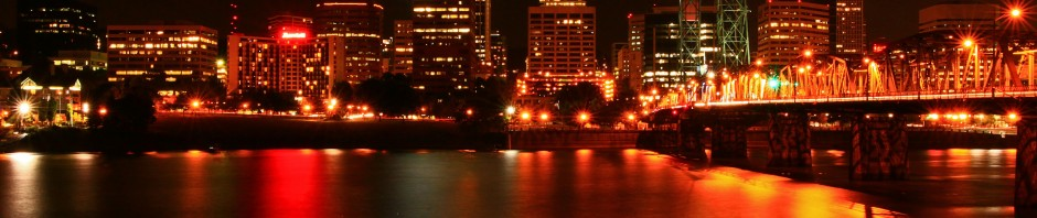 Portland city lights