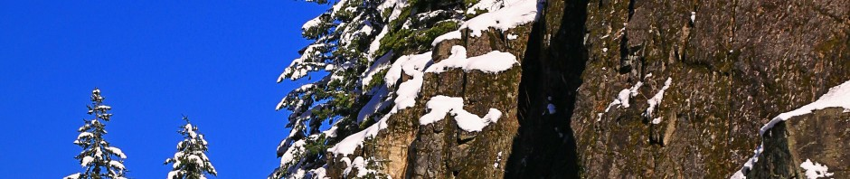 Light dusting of snow in the Oregon wilderness
