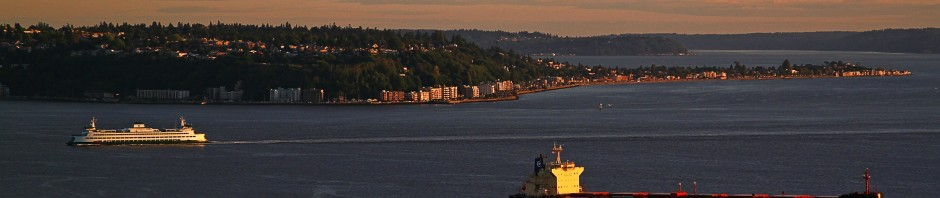 Looking towards West Seattle, WA