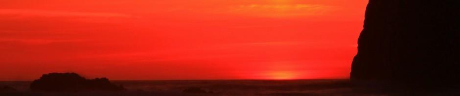 Oregon coast sunset at Cannon Beach