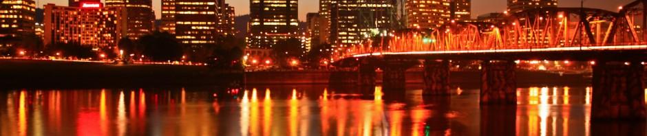 Portland, Oregon at night