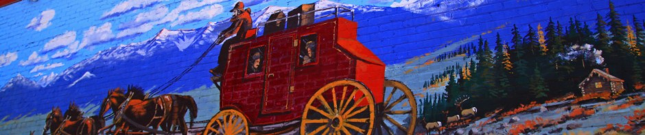 Wagon train mural