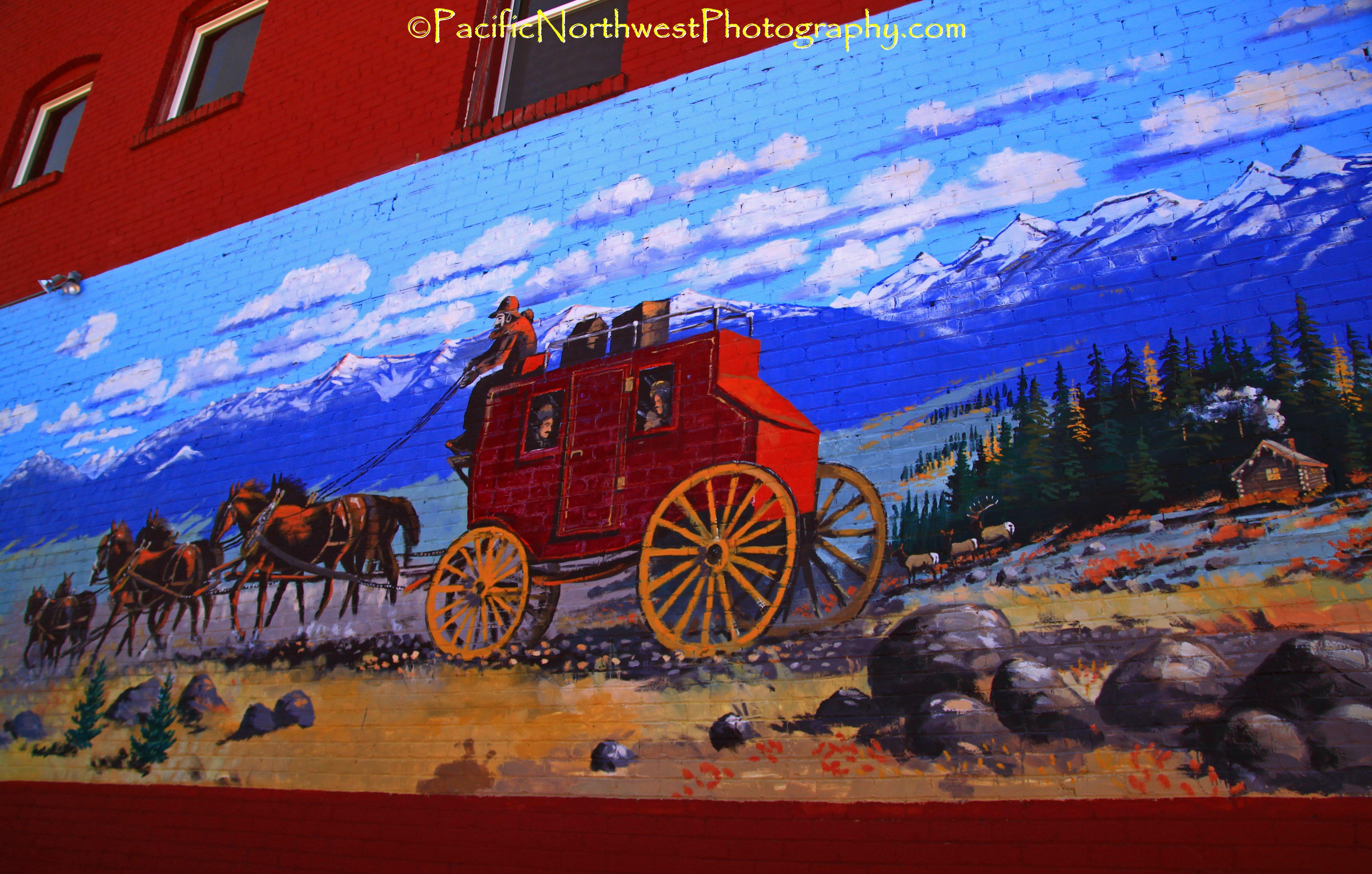 Wagon train mural