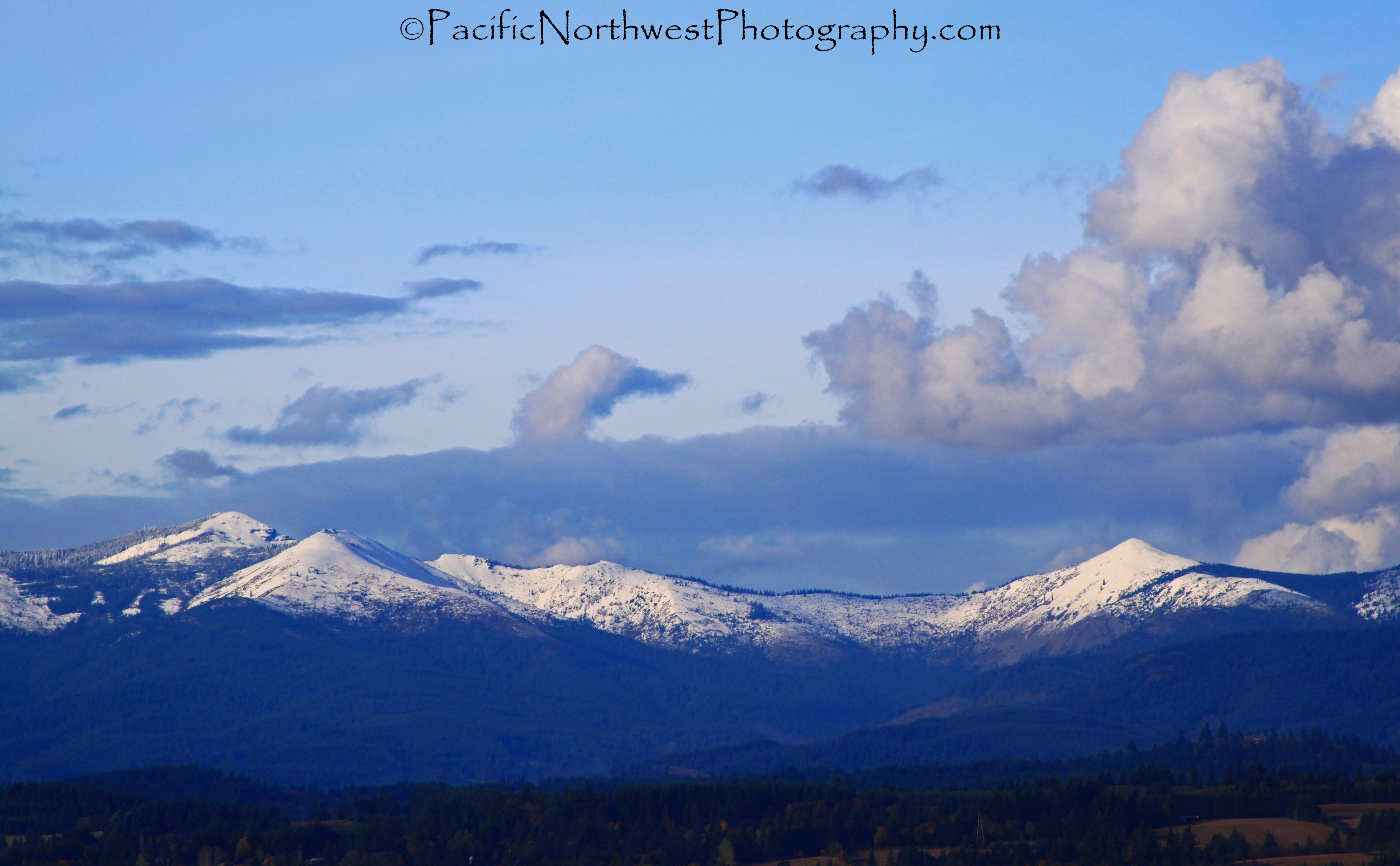 Snow in the foothills of Washington State
