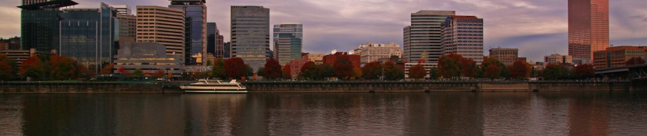 Portland, Oregon and the Willamette River