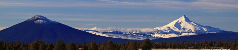 Black Butte and Mt. Jefferson, Oregon