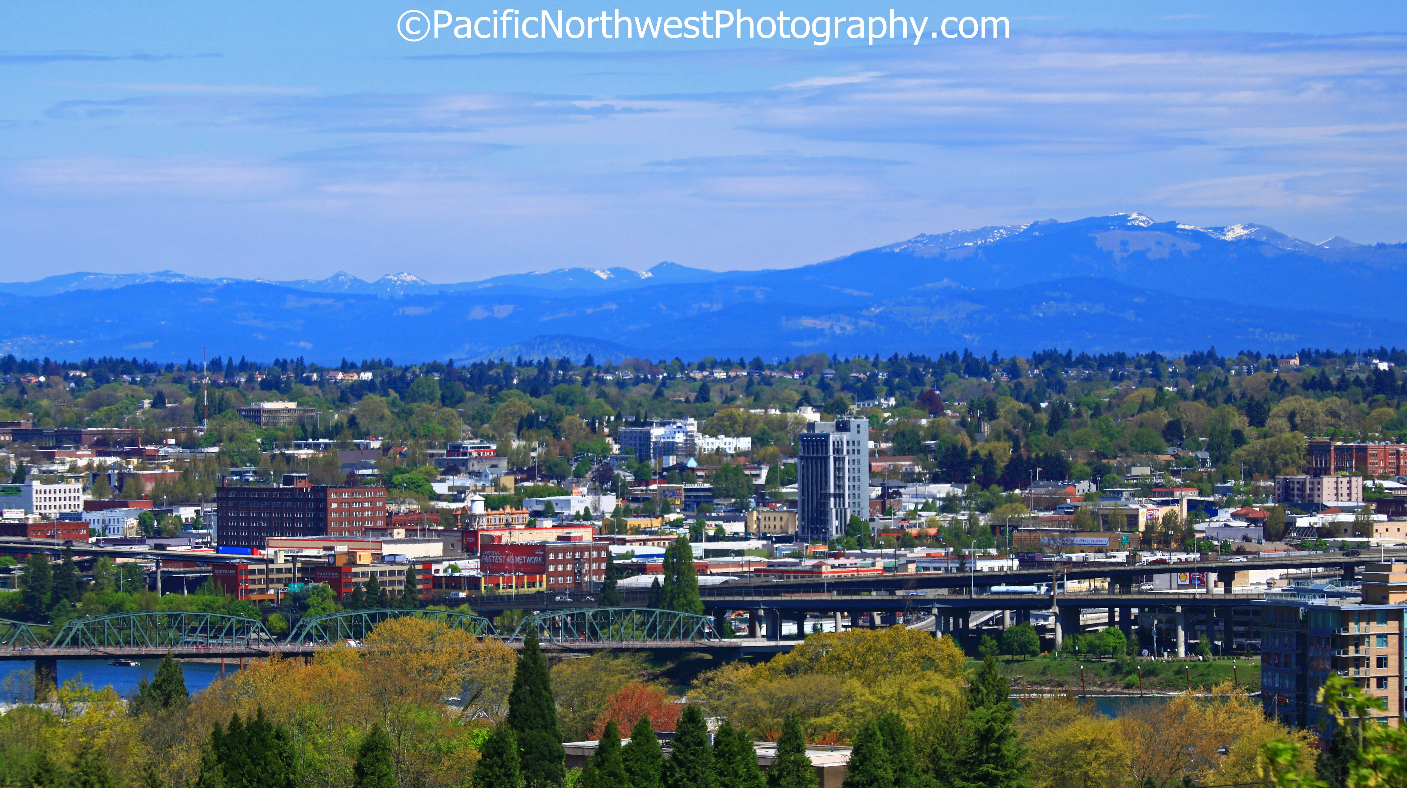 A unique view of Portland, Oregon