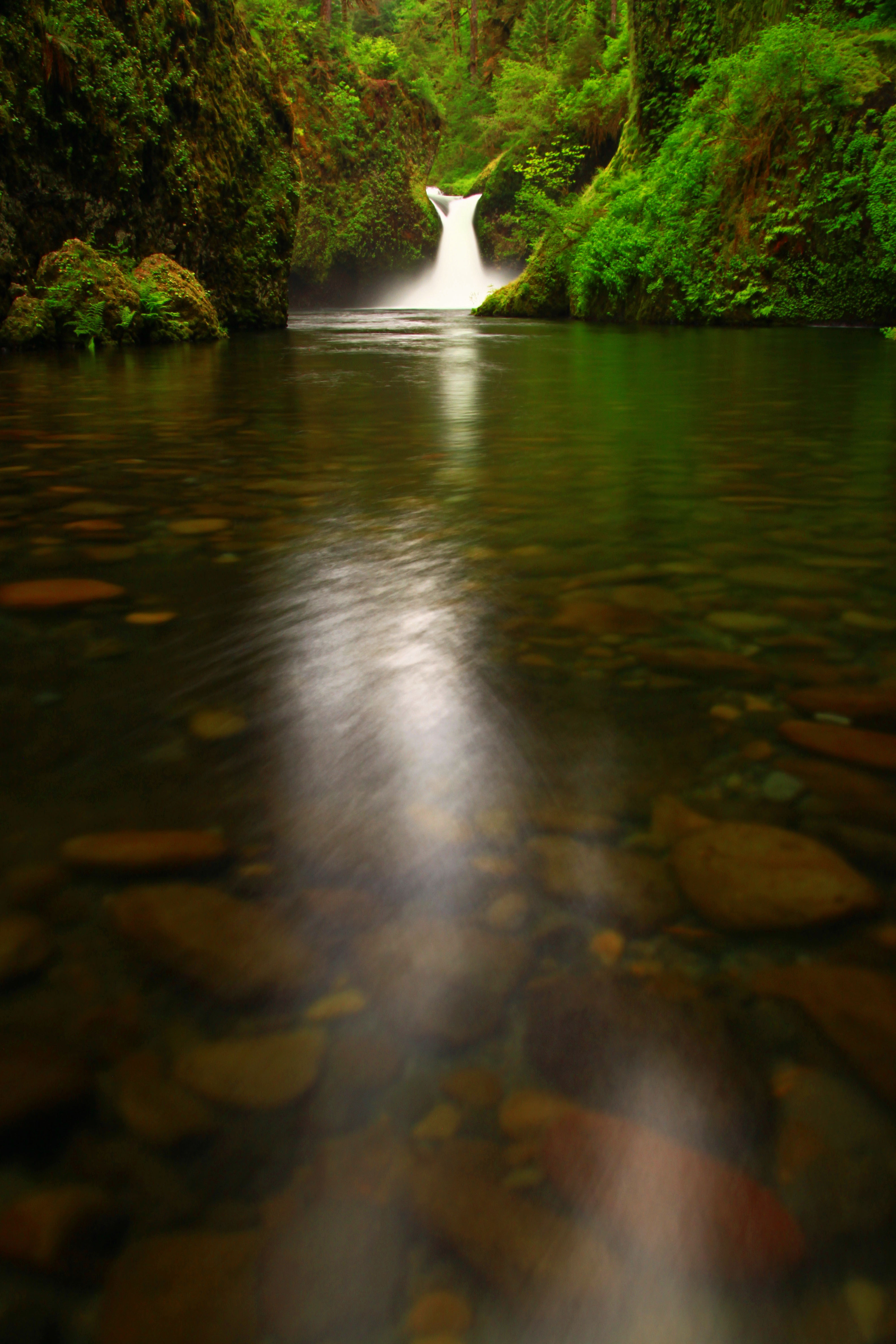 The Gorge and Punchbowl Falls, Oregon