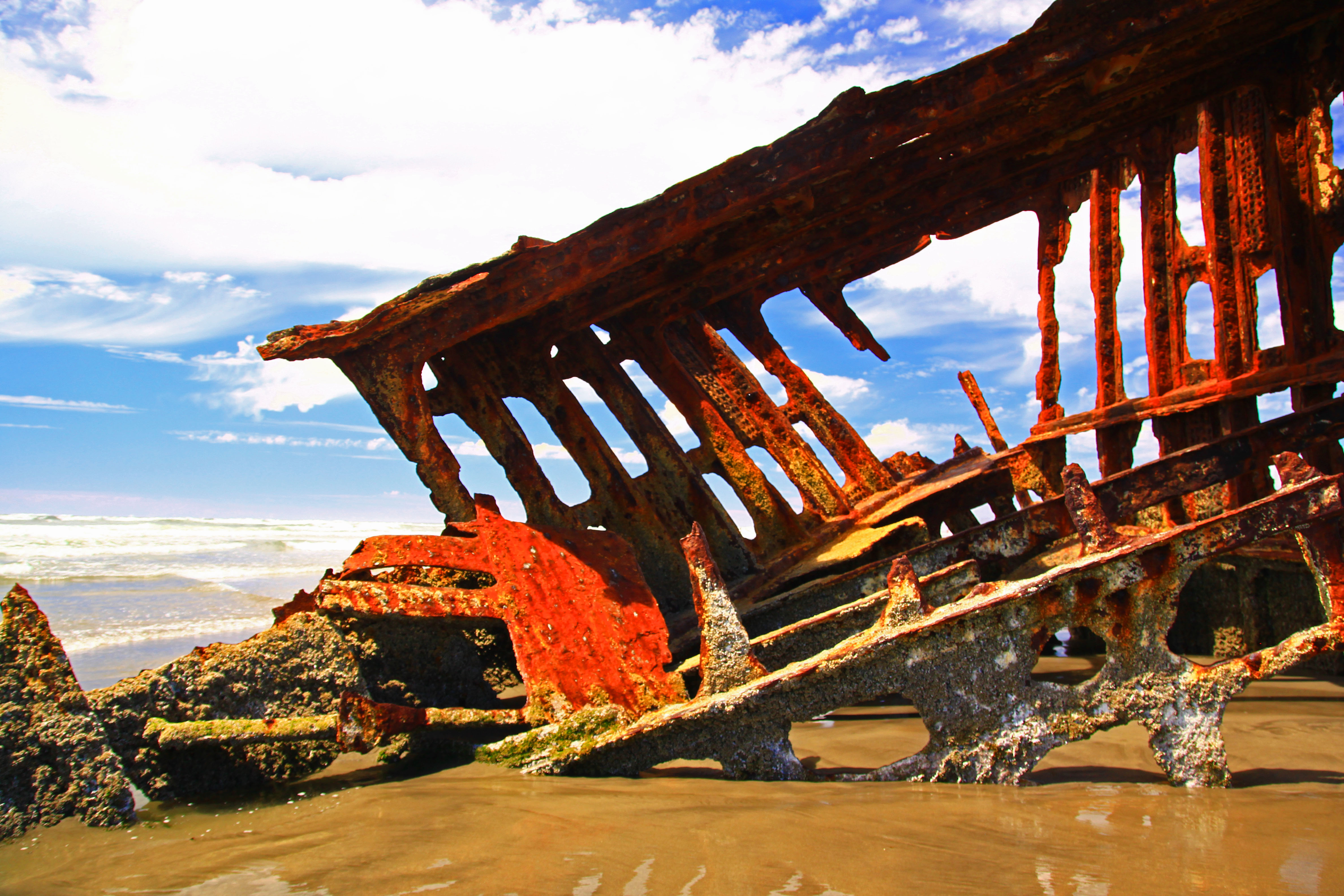 Peter Iredale Shipwreck at Fort Stevens, Oregon!